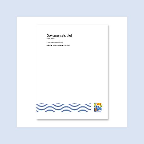Skärmavbild, mall för policydokument i Word.